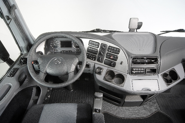 Interior cabina Mercedes Actros en la actulidad