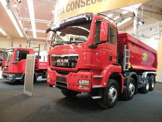 MAN es el actual líder del mercado español de camiones para construcción.