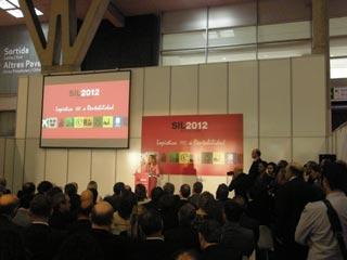 Durante la inauguración del SIL 2012 se contó con la presencia de la ministra Pastor de Fomento.