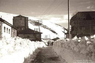 Estas imágenes corresponden al invierno de 1953 en el Puerto de Pajares.