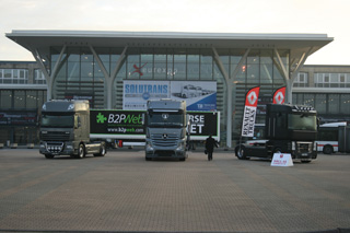 La presencia de las marcas de vehículos industriales pesados apoya la edición de Solutrans 2011.
