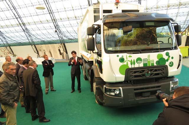 Renault Trucks presenta su primer camión Euro 6 de gas natural comprimido en España.
