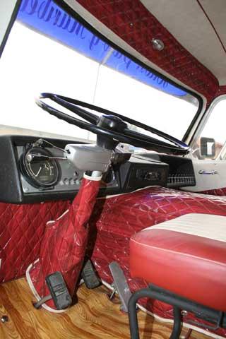Muchos preferían tapizar el interior de la cabina y evitar así el interior de metal desnudo.