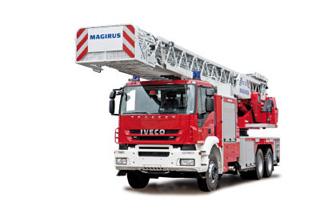 La gama de grúas Magirus alcanza en los mayores modelos los 60 metros de altura.