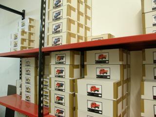 Parte de la producción de Modeltrans, lista para ser enviada a los coleccionistas.