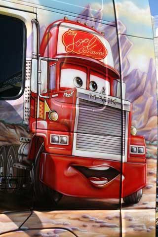 Los protagonista de la película Cars también han sido reproducidos.