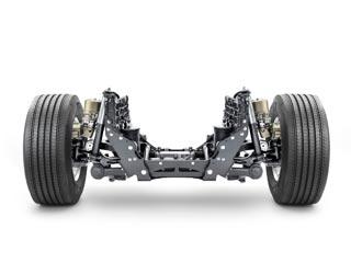 Sistema IFS de ruedas independientes para el eje delantero del Volvo FH.
