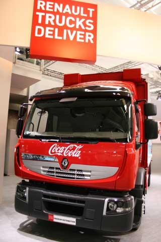 Este prototipo del camión 6x2 híbrido diesel eléctrico Premium Hybris ha trabajado en la distribución durante 12.500 kms.