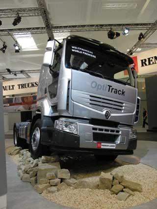 Gracias a la tracción Optitrack hidráulica el Premium Lander se convierte en tractora 4X4.