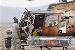 Carlos Sainz protagonista de uno de los muchos abandonos del durísimo Dakar 2013.