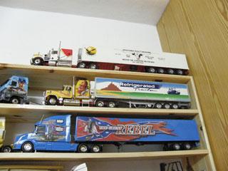 Los primeros modelos que montó José Manuel fueron maquetas de espectaculares camiones americanos.