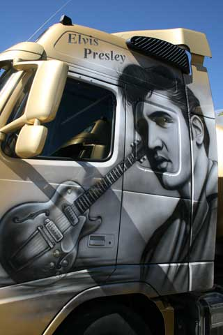 Elvis, el rey del rock...
