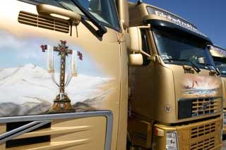 Si nos queremos relajar, pues tenemos suficiente con mirar el paisaje de nuestro camión.