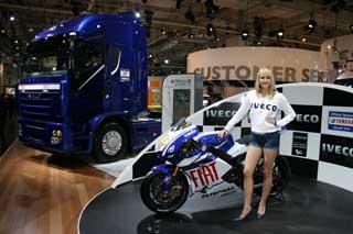 Espectacular y muy bien acompañada la tractora Iveco Stralis Edición Limitada Fiat Yamaha.