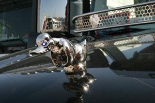 Impone, el pato salvaje emblema de este Scania e inspirado en la película Convoy.