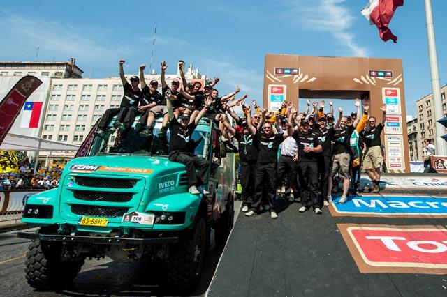 Derooy finalmente se conforma con el cuarto puesto en la clasificación general de camiones.