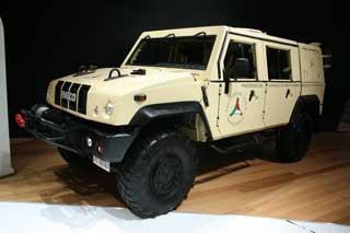 El Iveco Huski es un todoterreno de aplicación militar, al estilo de los americanos Hummer.
