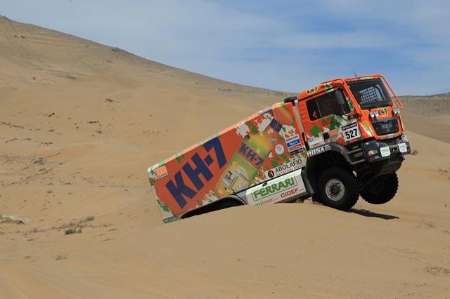 Líderes una vez más en 6x6 y primer equipo español de camiones en el Dakar 2013, el MAN 6x6 de KH7.