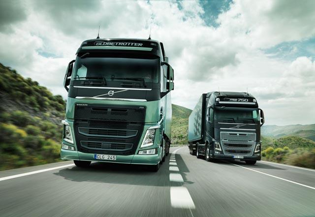 Impresionante aspecto frontal de los nuevos Volvo FH y FH16 en versión Globetrotter.