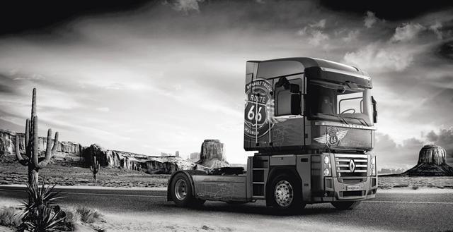 El Renault Magnum Ruta 66 se convierte en el camión europeo más americano.