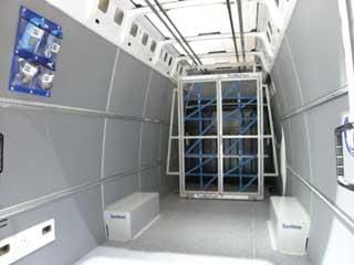 El furgón Daily puede vestirse interiormente para salvaguardar la carga eficazmente.