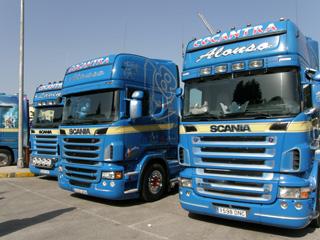 La escuadra de Cocantra parece preferir los Scania...