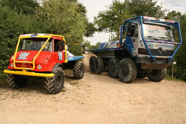 En el trial de camiones las categorías se reparten en función de las medidas de los vehículos.