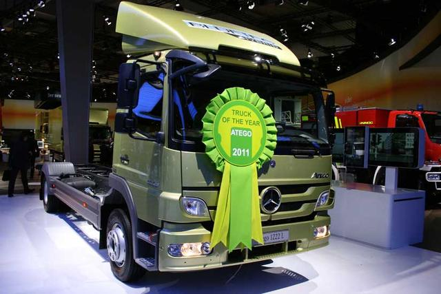 El nuevo Atego de Mercedes Benz se ha adjudicado el Truck of the Year 2011.