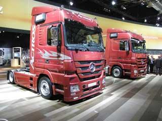 Los Actros con mecánicas de hasta 600 CV marcan la oferta para el transporte pesado de largo recorrido en Mercedes Benz.
