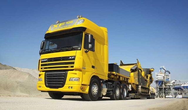 Las exigencias a que se debe someter un camión son igualmente duras en Europa o en Norteamérica, como demuestra este DAF.
