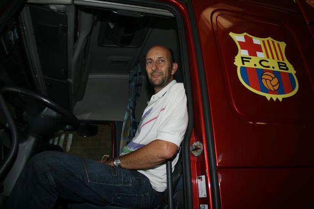 Lluís Seubas es uno de los transportistas miembros de Cotraman y además presidente de la cooperativa.