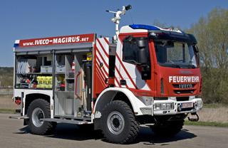 Las autobombas Magirus con base Iveco Eurocargo parten de las 11 toneladas de MMA.