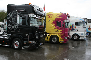 Entre los tuning y decorados dominan los Scania V8.