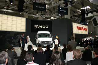 La NV400 de Nissan en el momento de ser vista por primera vez en el IAA 2010.