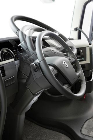 La columna de dirección facilita adoptar diferentes posturas de conducción.