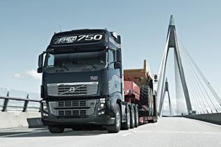 El Volvo FH 16 750 estará disponible a principios de 2012 en versiones EEV y Euro 5.