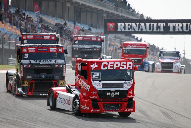 Antonio Albacete ya se ha situado segundo en la clasificación provisional del europeo de camiones 2012.
