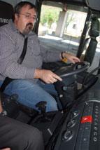 Puesto conducción del Iveco Eurocargo.