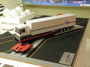 El sistema de embarque Modalohr permite el transporte bimodal ferrocarril-carretera de modo ágil.