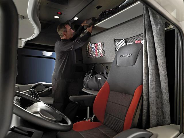 El Magnum Ruta 66 ofrece un interior optimizado para la vida a bordo.
