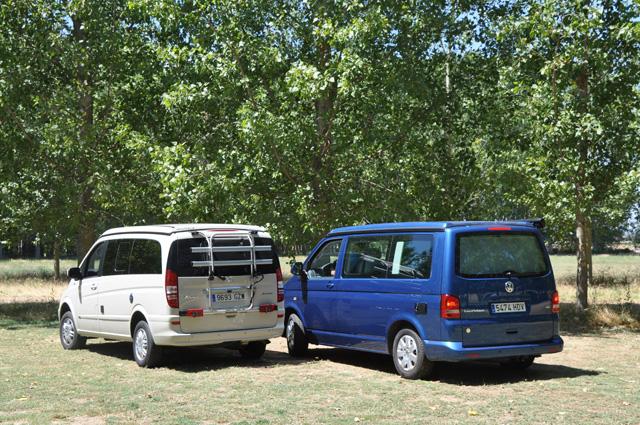¿California o Marco Polo? Dos excelentes campers que con reducido tamaño alojan a cuatro ocupantes.