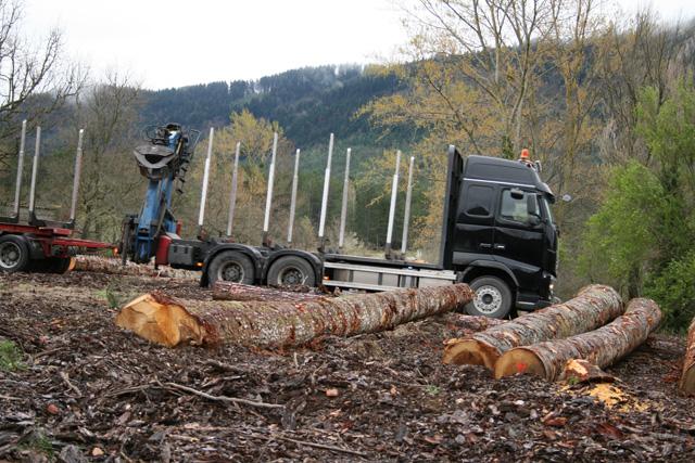 El Volvo FH 16 6X4 de 700 CV arrastra un remolque de otros tres ejes, como transporte especial puede alcanzar las 57 T.
