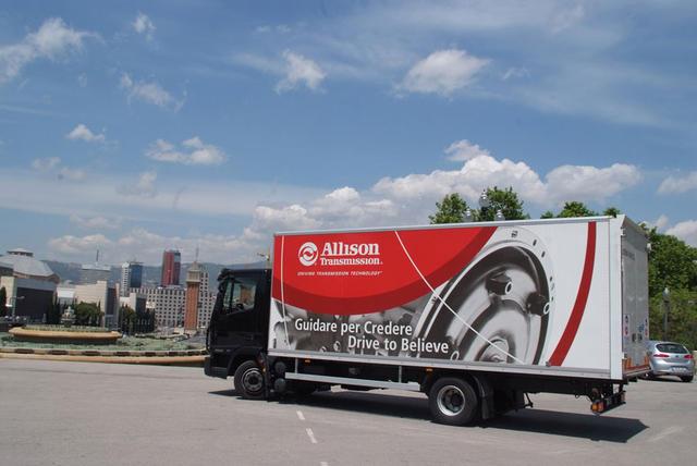 Las cualidades del Iveco Eurocargo con caja automática Allison lo optimizan para la distribución urbana.
