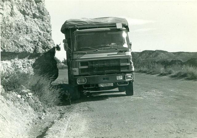 Este Barreiros 4 ejes fue un típico camión de los años 70 en las minas de carbón de la Catalunya Central.