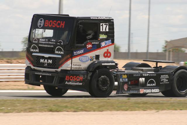 José Bermejo, otro de los pilotos nacionales al volante de MAN.