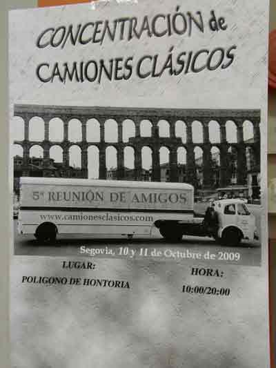 Así se convocaba la reunión de amigos de los camiones clásicos en Segovia.