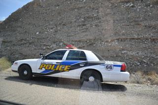 Incluso los patrulleros de poblaciones al pie de la Ruta 66 lucen su caracterísitico logo.
