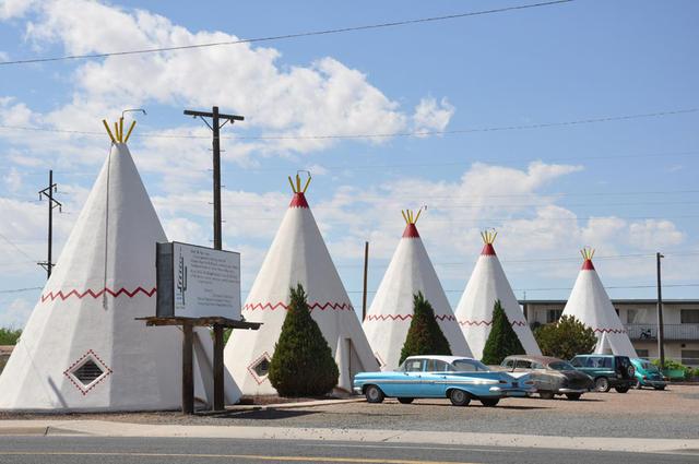 En algunos moteles la personalidad del salvaje oeste salta a la vista.