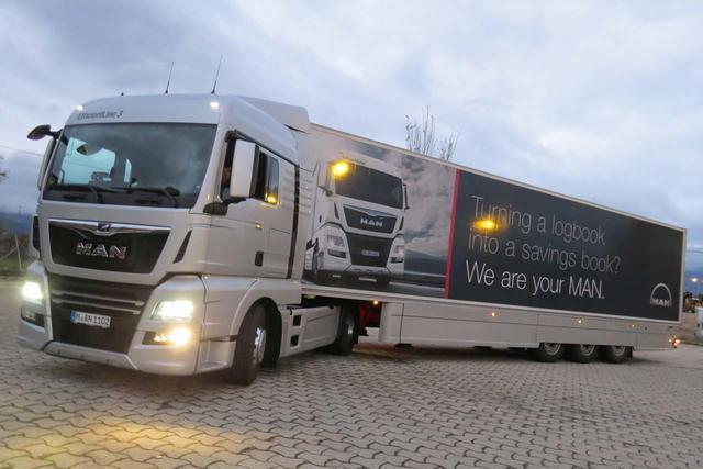 La combinación del motor MAN D26 de 500 CV y 2.500 Nm y las 14 velocidades de la caja de cambios ofrece excelentes prestaciones.