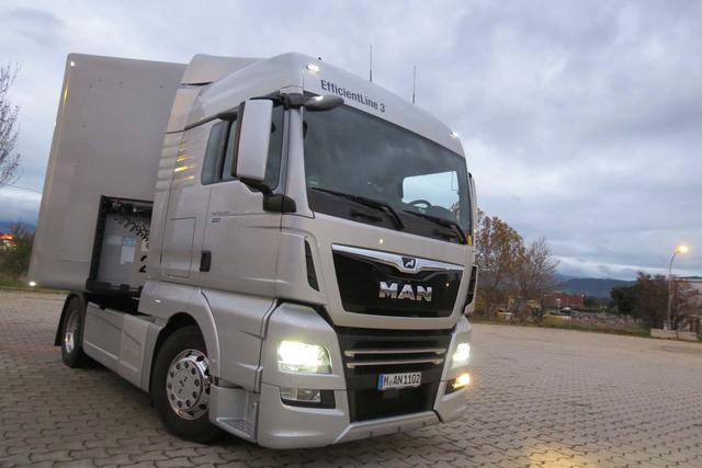 La cabina XLX de la gama MAN TGX es la de altura media y ofrece una excelente habitabilidad.